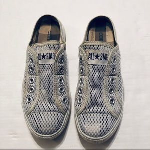 Converse All⭐️Star Tennis Shoes Slip On Mesh 7.5